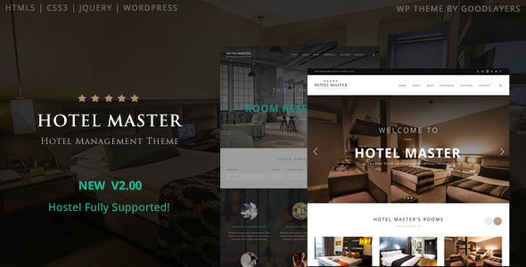 Hotel Master – Hotel & Hostel Booking WordPress Theme