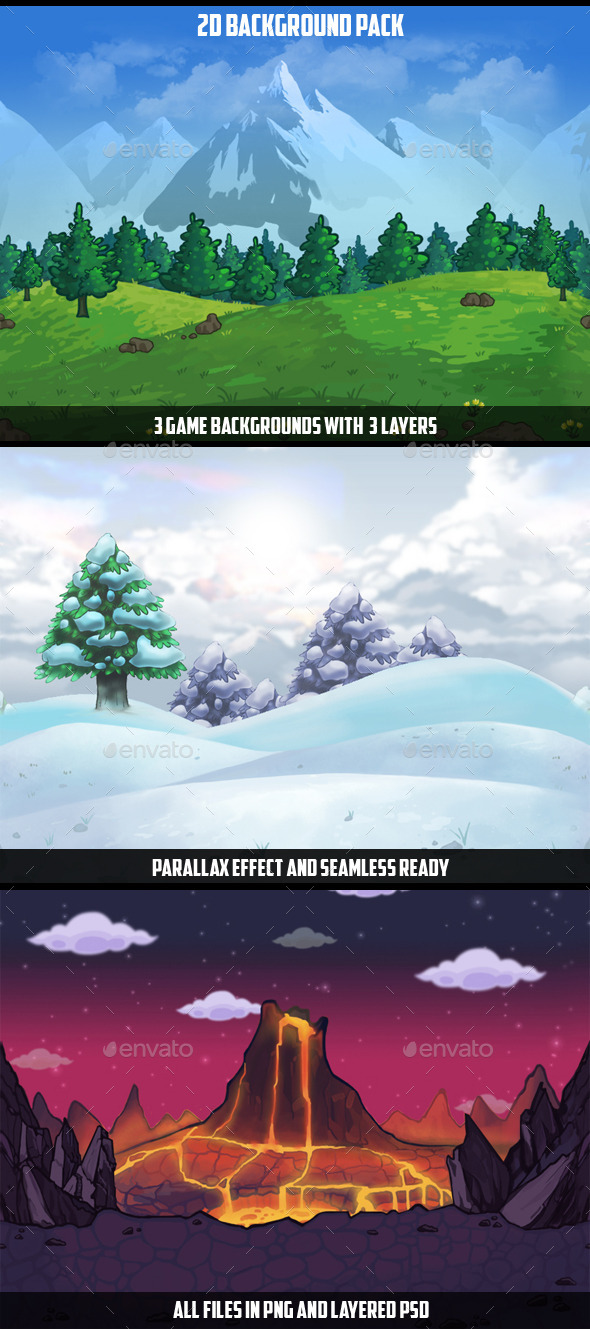 Backgrounds Game Pack 2 - Backgrounds Game Assets
