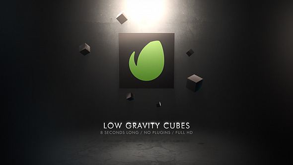 Low Gravity Abstract Logo Reveal