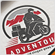 Motorcycle Adventure Logo - GraphicRiver Item for Sale