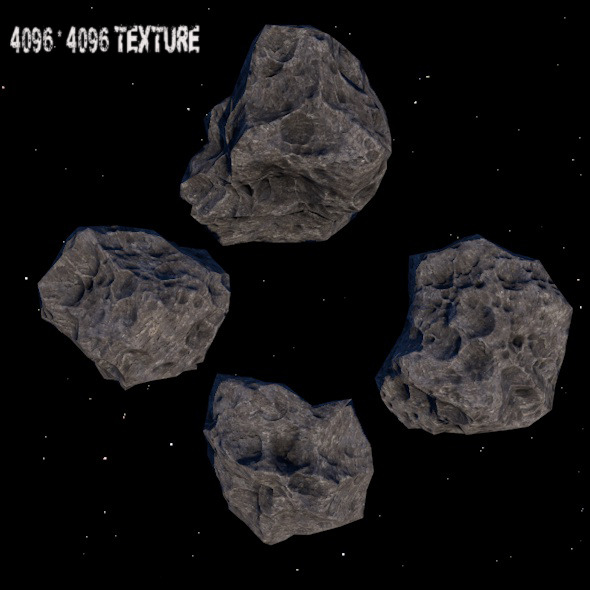 Astroid_set_1 - 3DOcean Item for Sale