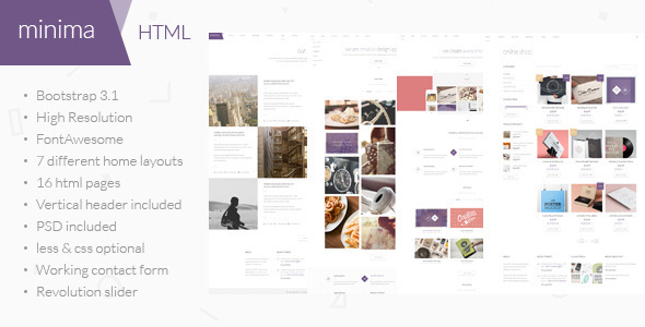 Minima - Multipurpose HTML Template - Creative Site Templates