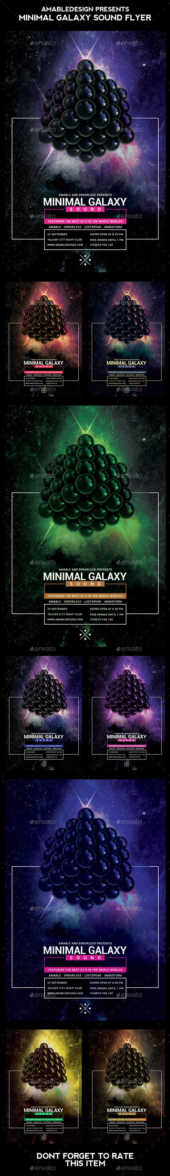 Minimal Galaxy Sound Flyer