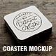 Coaster Mockup - GraphicRiver Item for Sale