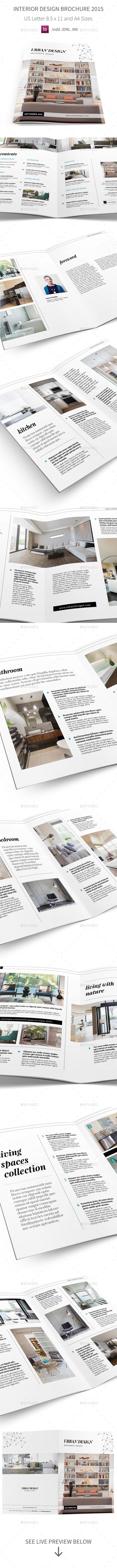 Interior Design Brochure 2015 Template - Informational Brochures