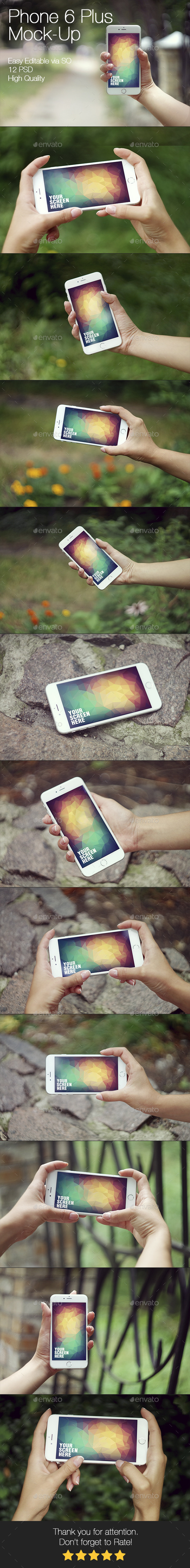 Phone 6 Plus Mockup - Mobile Displays