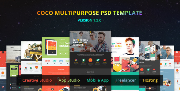 Coco - Multipurpose PSD - Creative PSD Templates