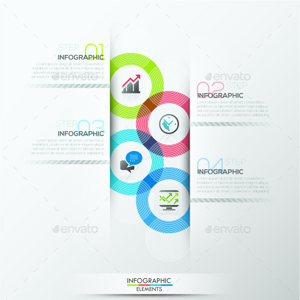 Modern Infographic Circle Template - Infographics
