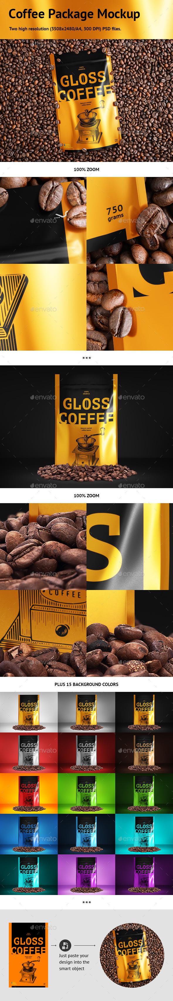Coffee Package Mockup - Food and Drink Packaging
