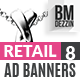 Retail 8 Ad Banners - GraphicRiver Item for Sale