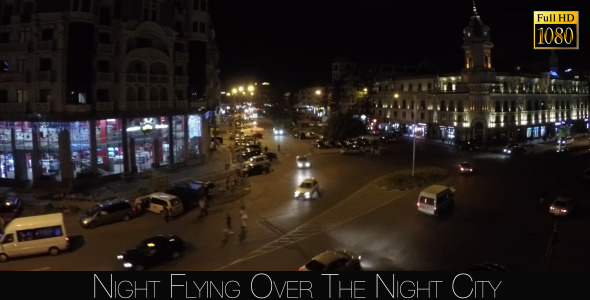 Night Flying Over The Night City 3