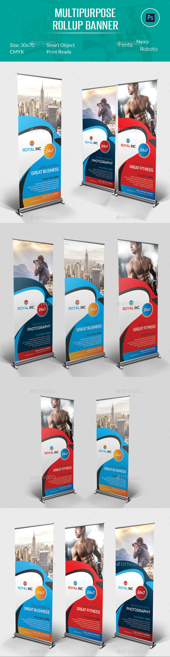 Multipurpose Rollup Banner - Signage Print Templates