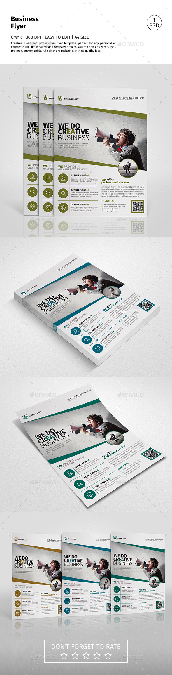 A4 Corporate Business Flyer Template Vol 04