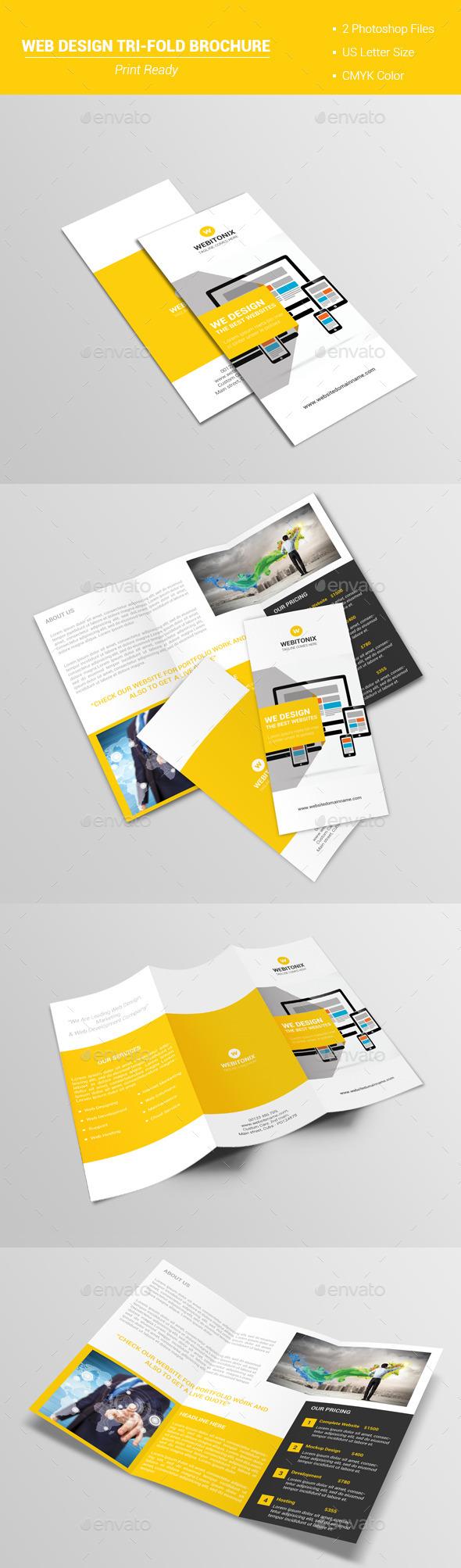 Web Design Tri-Fold Brochure V1 - Corporate Brochures