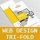 Web Design Tri-Fold Brochure V1 - GraphicRiver Item for Sale