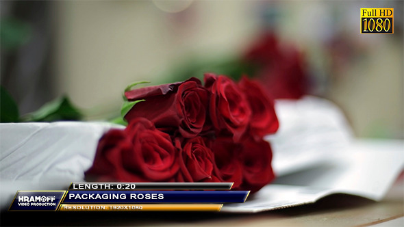 Packaging Roses