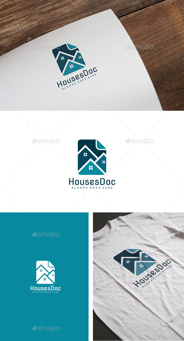 Real Estate Doc Logo - Buildings Logo Templates