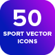 Backyard: 50 Stroke Vector Sport Icons - GraphicRiver Item for Sale