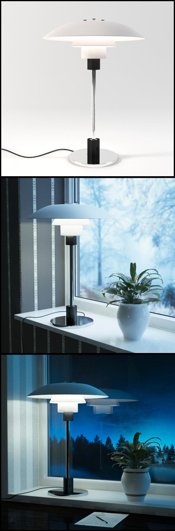 Louis Poulsen (Poul Henningsen) 3/4 Table Lamp - 3DOcean Item for Sale