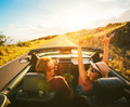 Happy Couple Driving in Convertible - PhotoDune Item for Sale
