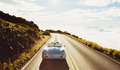Coupe Driving on Country Road in Vintage Sports Car - PhotoDune Item for Sale