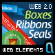 Web Boxes | Banners | Seals | Web 2.0 Ribbons - GraphicRiver Item for Sale