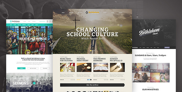 Image of Bethlehem - Church WordPress Theme