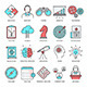 Brainstorming and Productivity Line Icons - GraphicRiver Item for Sale