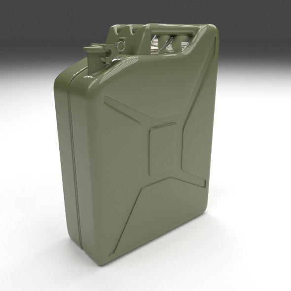 Jerry Can Green - 3DOcean Item for Sale