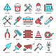 Construction and Building Line Icons - GraphicRiver Item for Sale