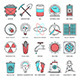Energy and Fuel Line Icons - GraphicRiver Item for Sale
