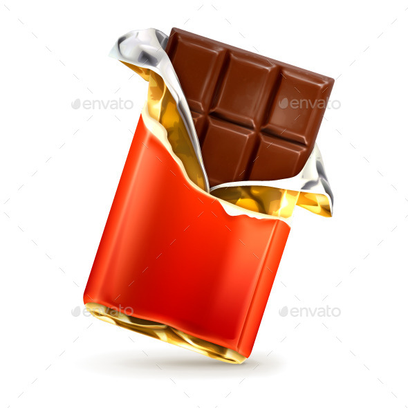 Chocolate Bar Icon - Food Objects