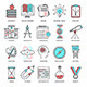 Wisdom and Knowledge Line Icons - GraphicRiver Item for Sale
