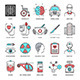 Medicine and Science Line Icons - GraphicRiver Item for Sale