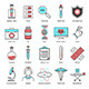 Medicine and Science Flat Line Icons - GraphicRiver Item for Sale