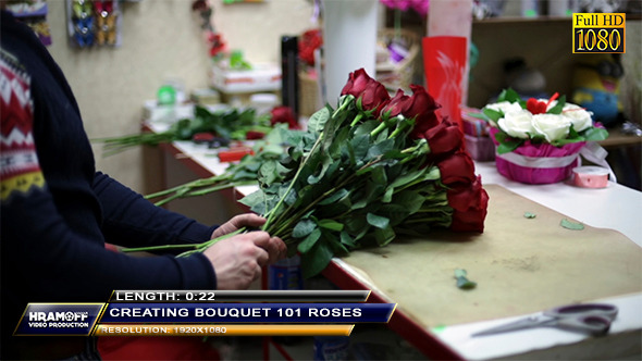 Creating A Bouquet Of 101 Roses