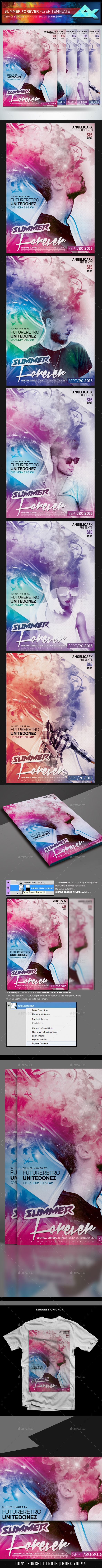 Summer Forever Flyer Template