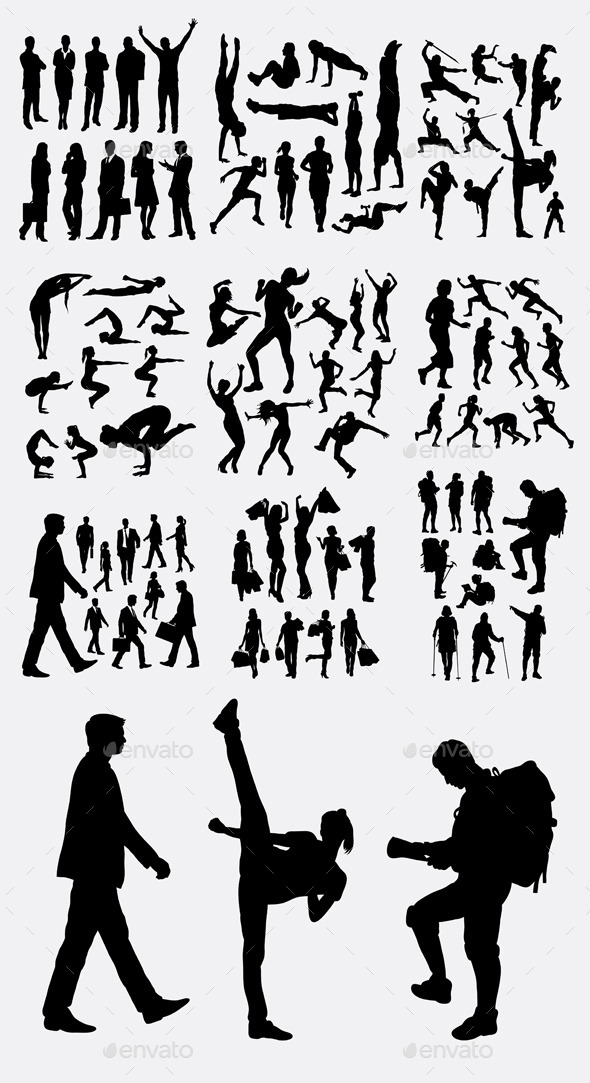 People Activity Silhouettes - People Characters