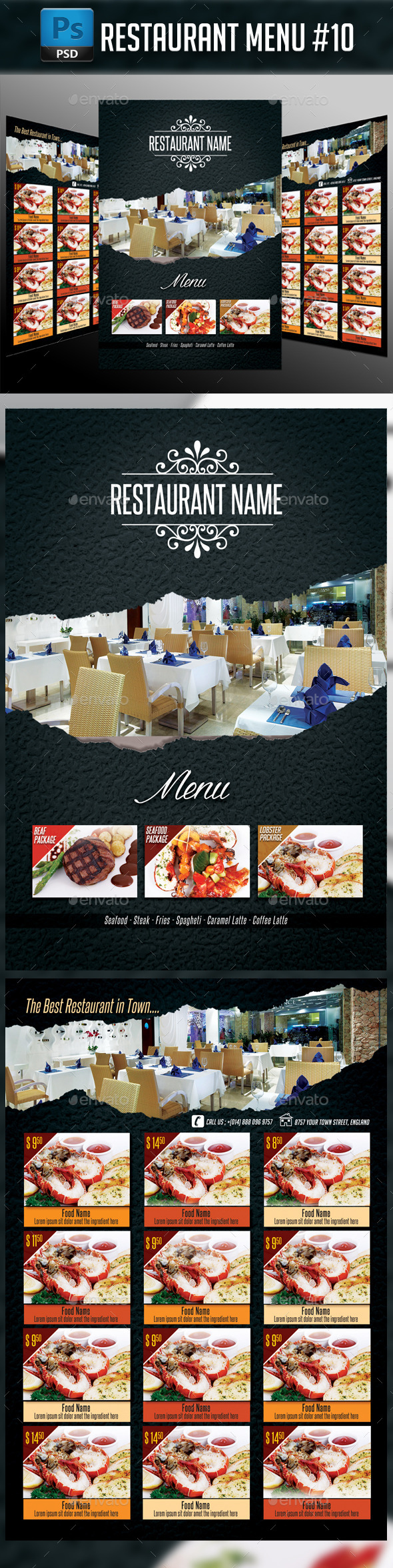 Restaurant Menu #10 - Food Menus Print Templates