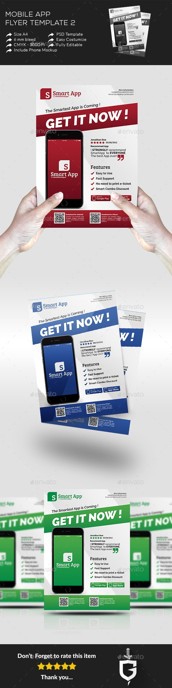 Mobile App Flyer Template 2