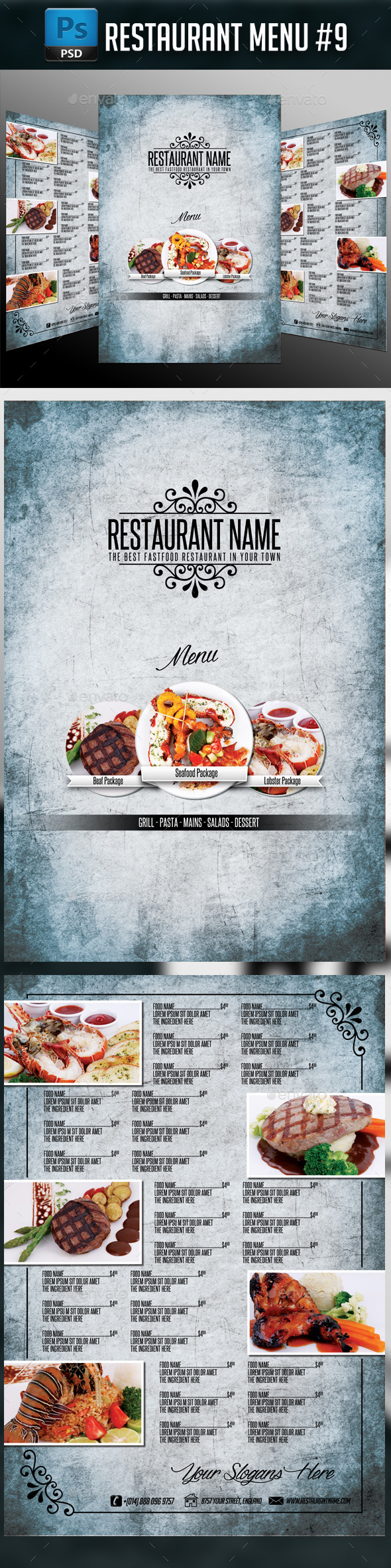 Restaurant Menu #9 - Food Menus Print Templates