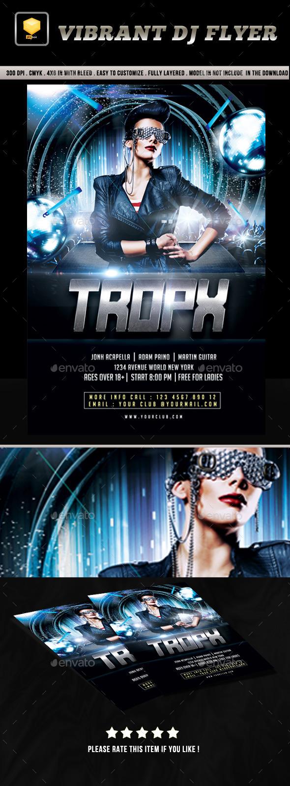 Vibrant DJ Flyer - Clubs & Parties Events