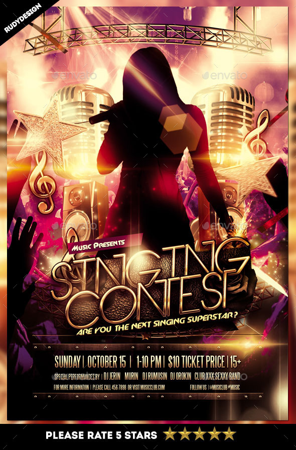 Singing Contest Flyer - Miscellaneous Events
