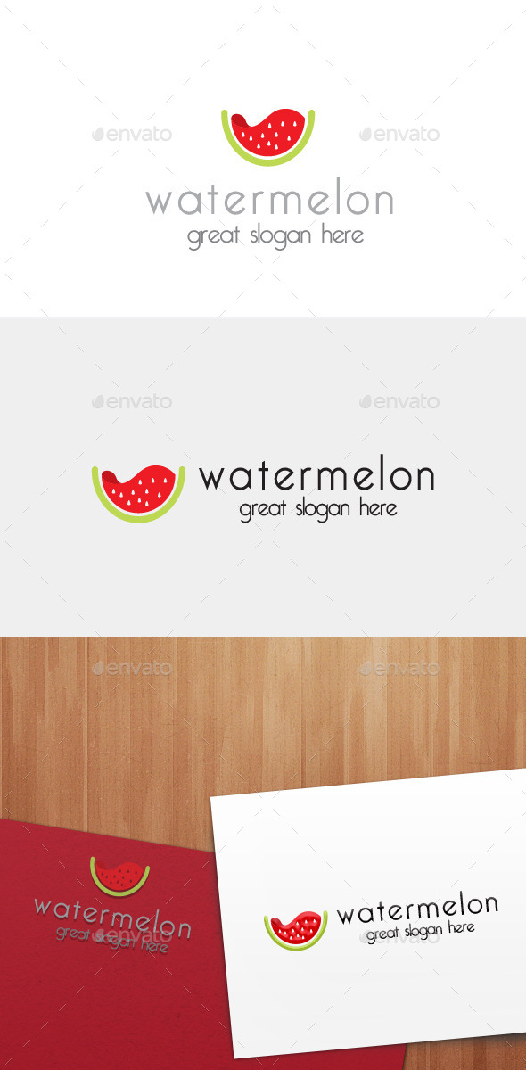 Watermelon Logo - Food Logo Templates