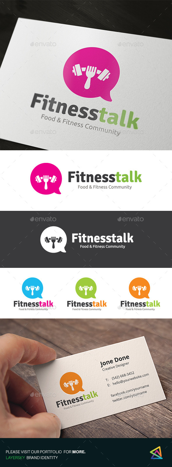 Fitness Talk - Objects Logo Templates