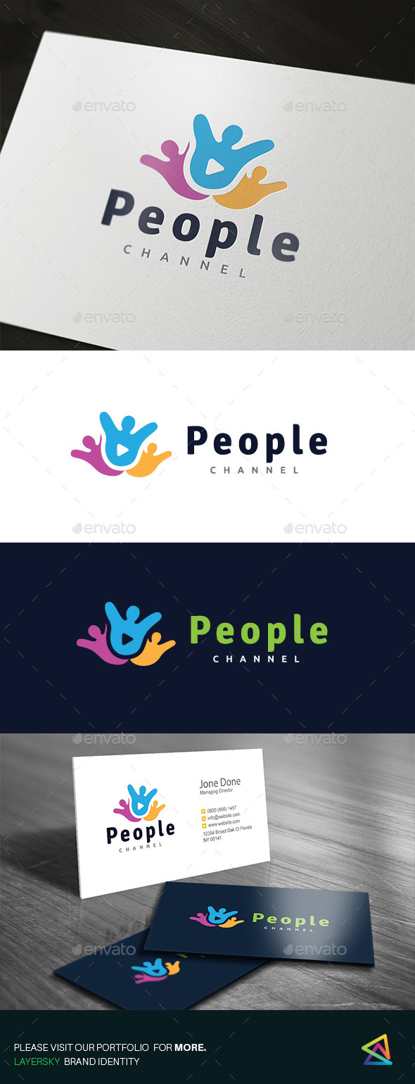 People Channel - Humans Logo Templates