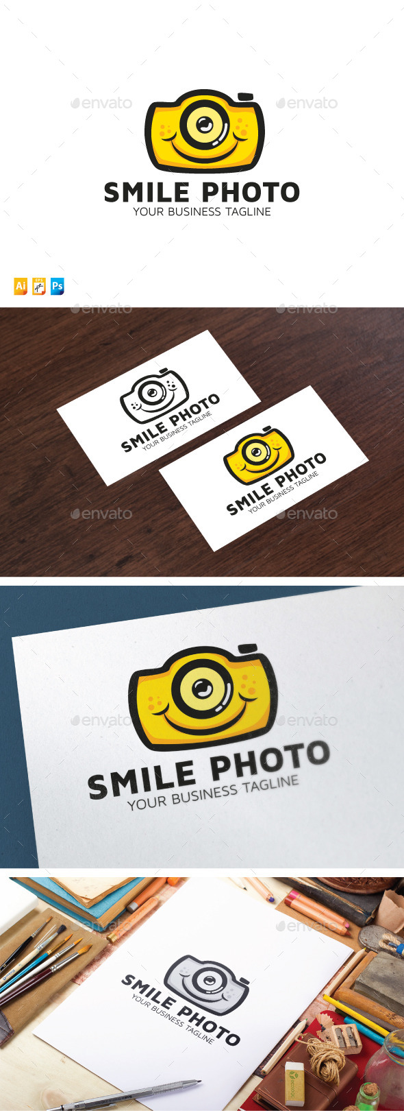 Smile Photo - Objects Logo Templates