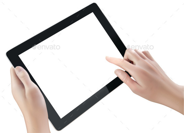 Hand Holding Digital Tablet - Computers Technology
