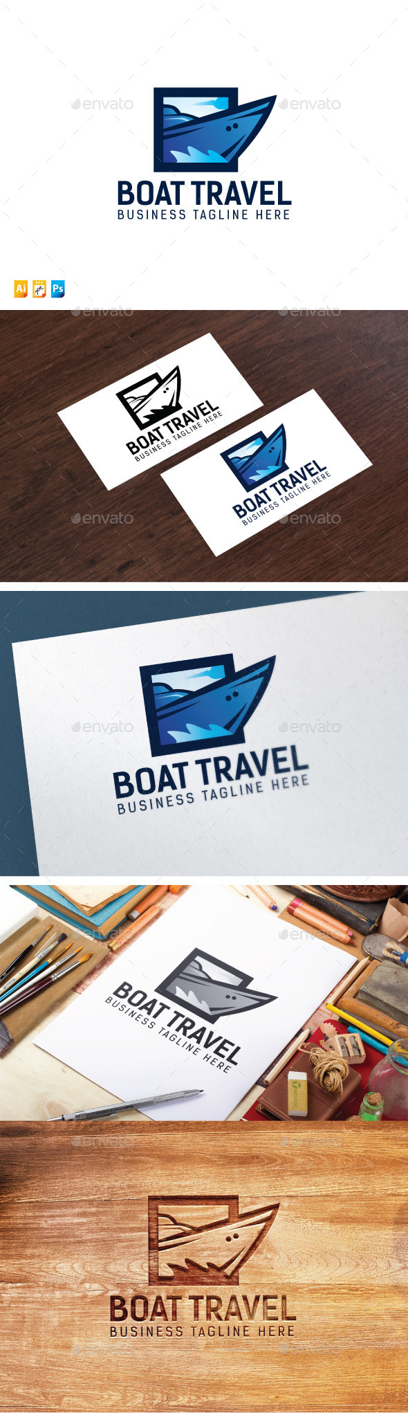 Boat Travel Logo - Objects Logo Templates