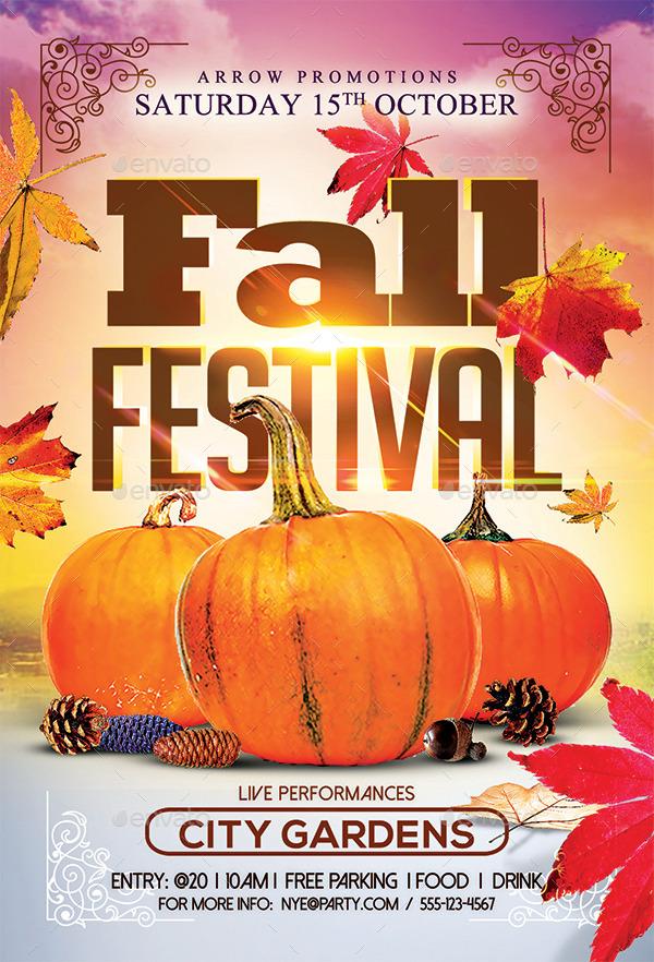 free fall festival flyers